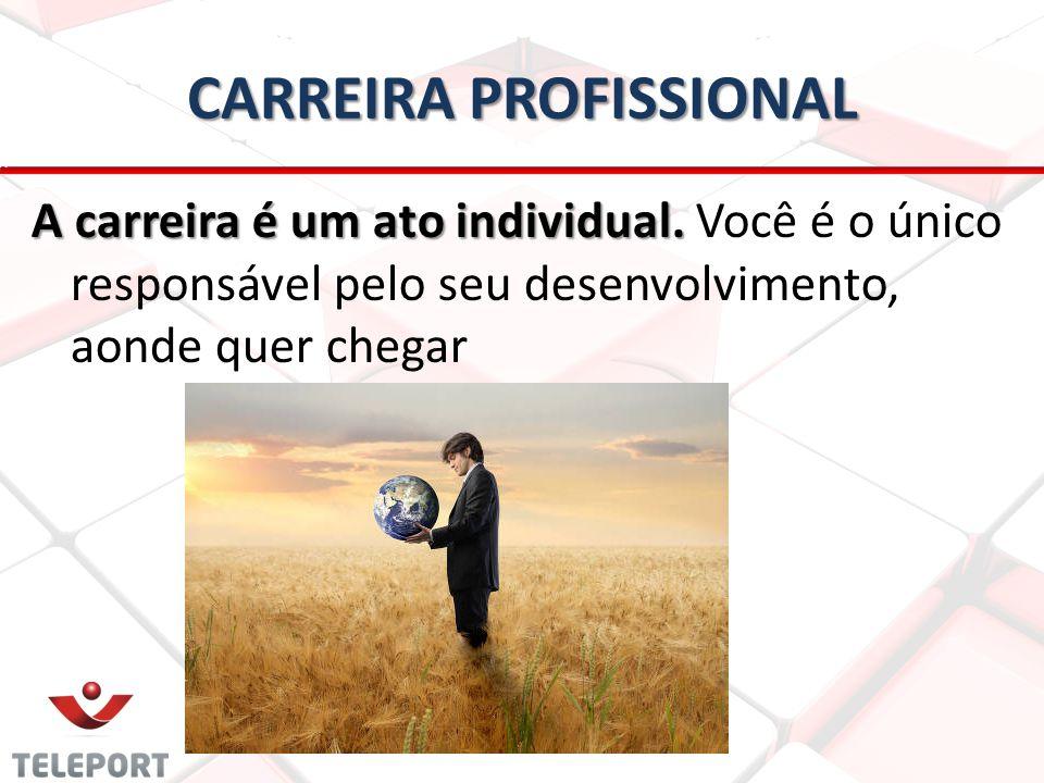 CARREIRA PROFISSIONAL A carreira é um ato individual.