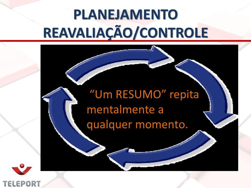 PLANEJAMENTO REAVALIAÇÃO/CONTROLE Um RESUMO repita mentalmente a qualquer momento.
