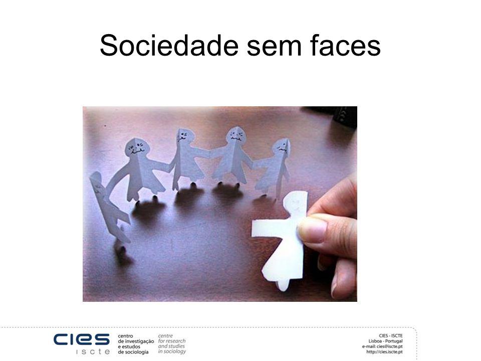 Sociedade sem faces