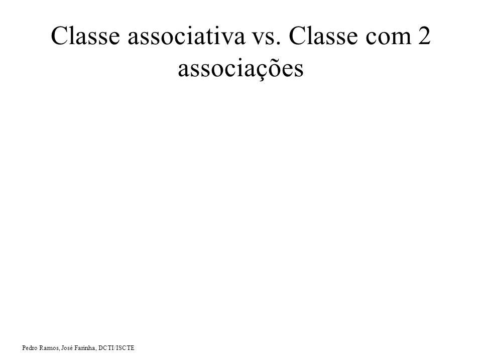 Pedro Ramos, José Farinha, DCTI/ISCTE Classe associativa vs. Classe com 2 associações