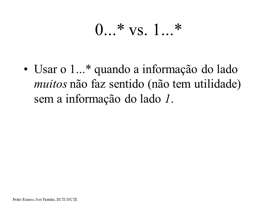 Pedro Ramos, José Farinha, DCTI/ISCTE 0...* vs.