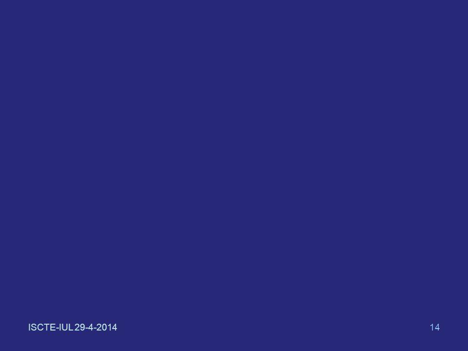 ISCTE-IUL 29-4-201414
