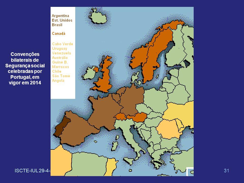 ISCTE-IUL 29-4-201431 Convenções bilaterais de Segurança social celebradas por Portugal, em vigor em 2014