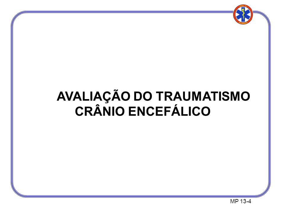 MP 13-4 AVALIAÇÃO DO TRAUMATISMO CRÂNIO ENCEFÁLICO