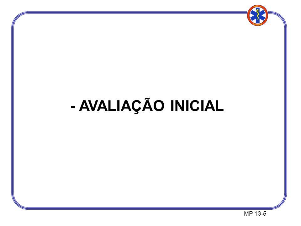 MP 13-5 - AVALIAÇÃO INICIAL