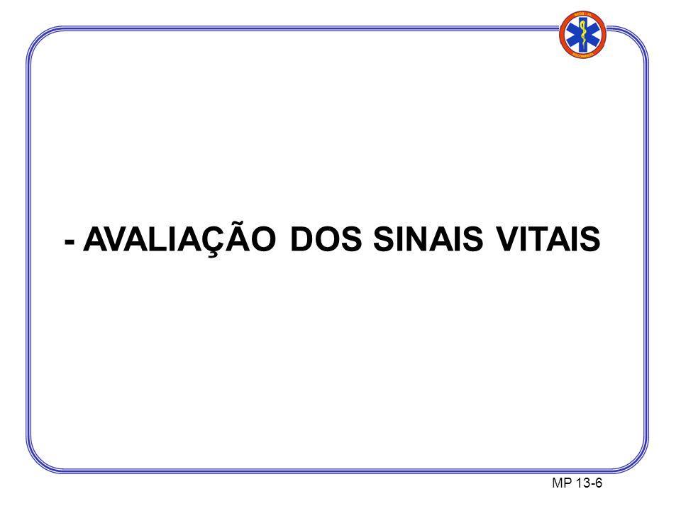 MP 13-6 - AVALIAÇÃO DOS SINAIS VITAIS