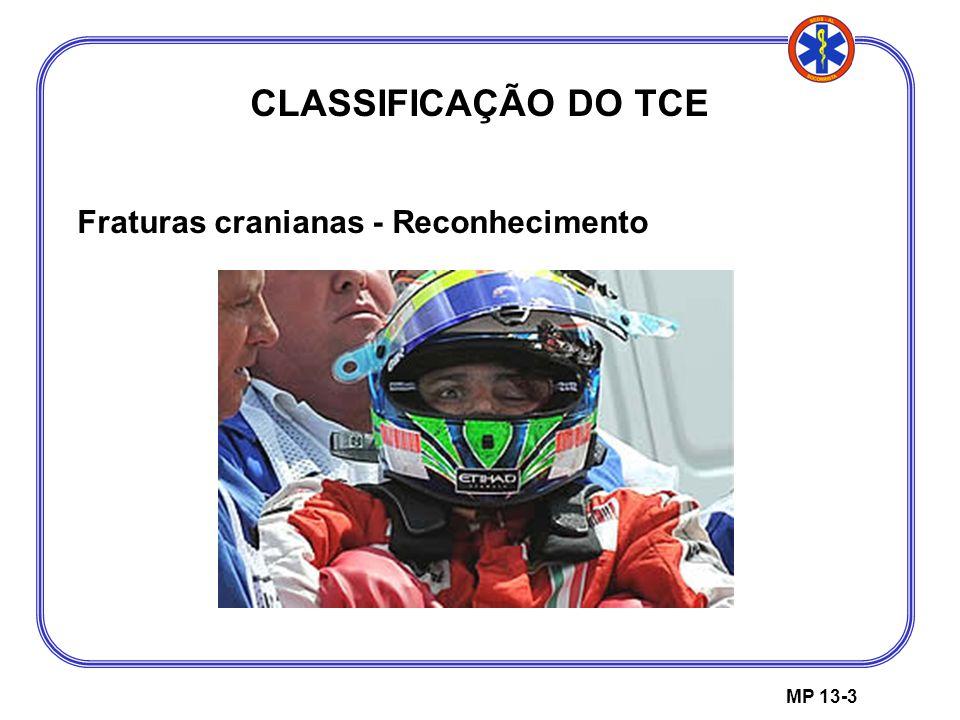 MP 13-3 CLASSIFICAÇÃO DO TCE Fraturas cranianas - Reconhecimento