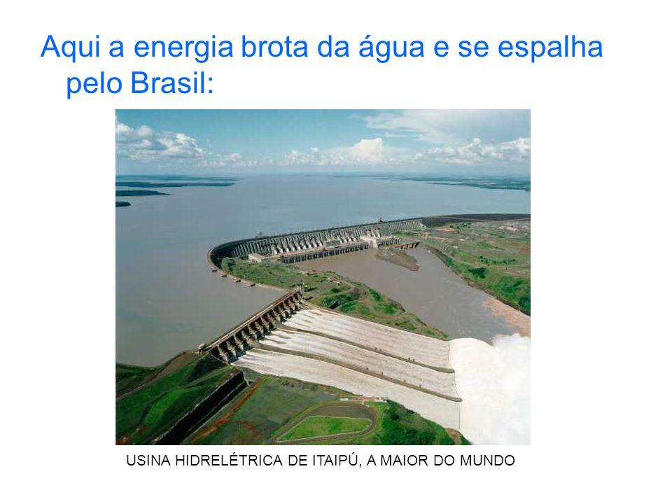 Aqui a energia brota da água e se espalha pelo Brasil: USINA HIDRELÉTRICA DE ITAIPÚ, A MAIOR DO MUNDO