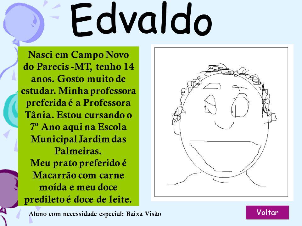 Valeria Voltar Nasci em Maceió - AL, tenho sete anos. Gosto muito de estudar. Minha professora preferida é a Professora Juliana. Gosto de comer macarr
