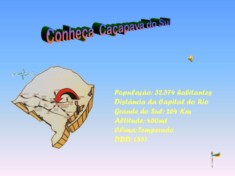 População: 32.574 habitantes Distância da Capital do Rio Grande do Sul: 264 Km Altitude: 460mt Clima: Temperado DDD: (55)