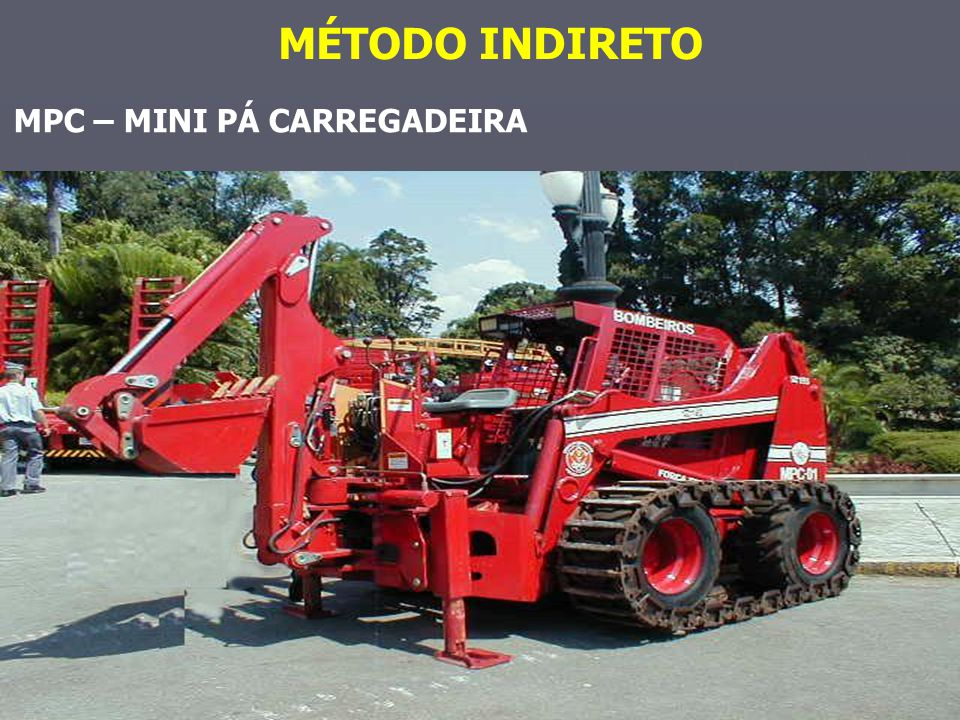 MÉTODO INDIRETO MPC – MINI PÁ CARREGADEIRA