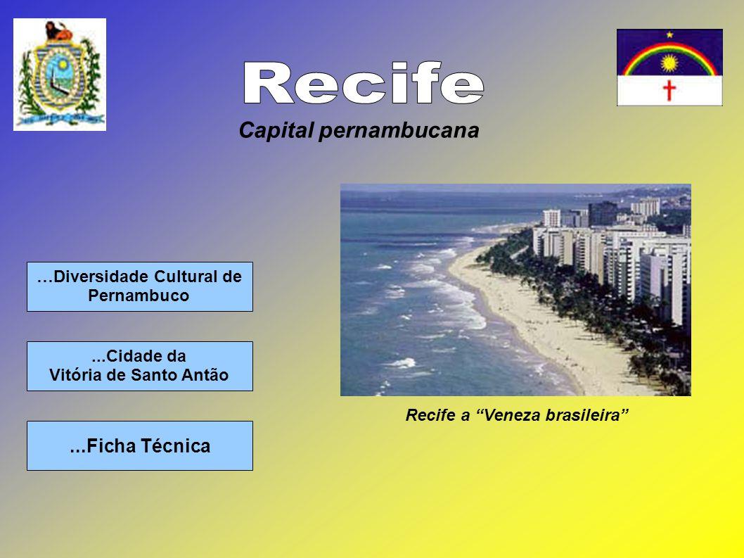 …Diversidade Cultural de Pernambuco...Ficha Técnica...Cidade da Vitória de Santo Antão Capital pernambucana Recife a Veneza brasileira
