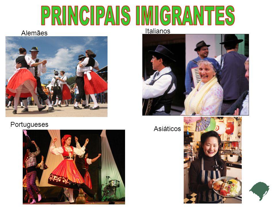 Alemães Italianos Portugueses Asiáticos