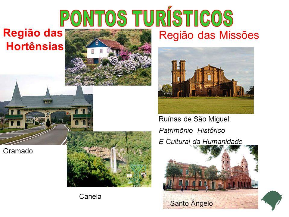 Gramado Canela Região das Missões Região das Hortênsias Ruínas de São Miguel: Patrimônio Histórico E Cultural da Humanidade Santo Ângelo