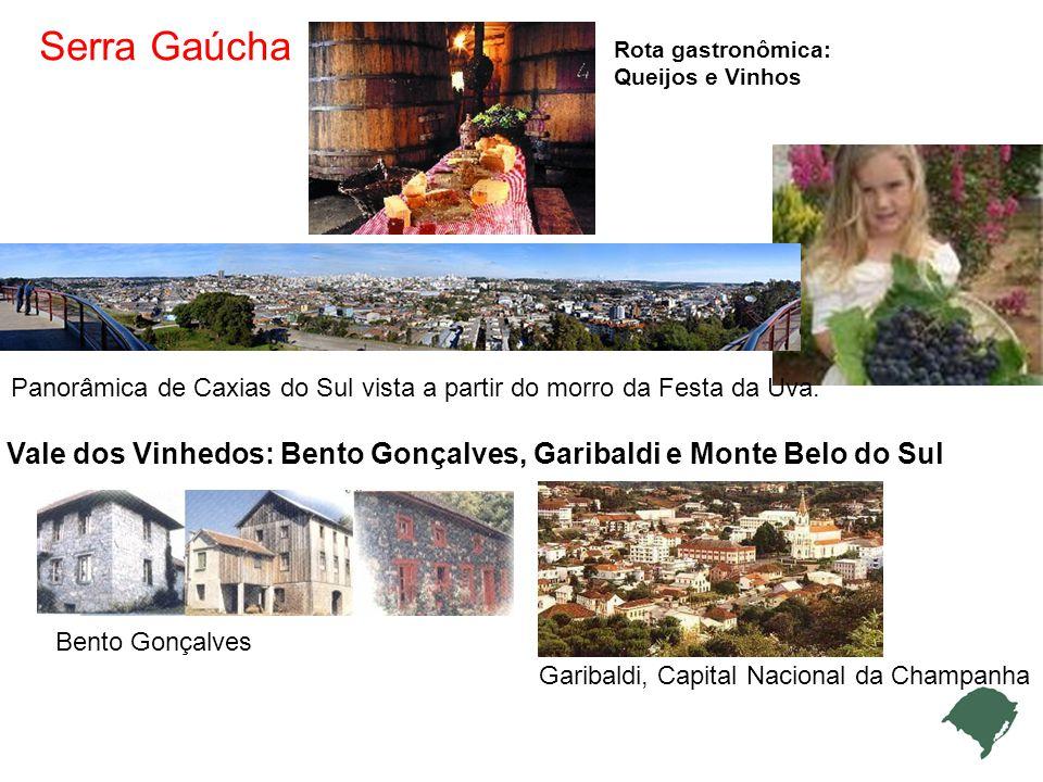 Serra Gaúcha Rota gastronômica: Queijos e Vinhos Panorâmica de Caxias do Sul vista a partir do morro da Festa da Uva.