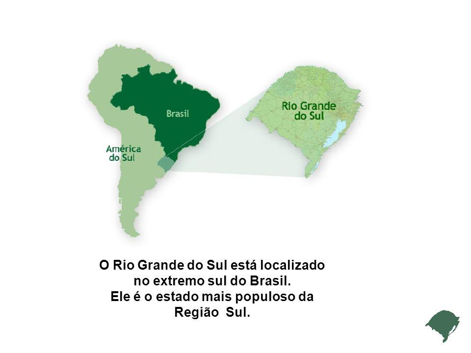 O Rio Grande do Sul está localizado no extremo sul do Brasil.