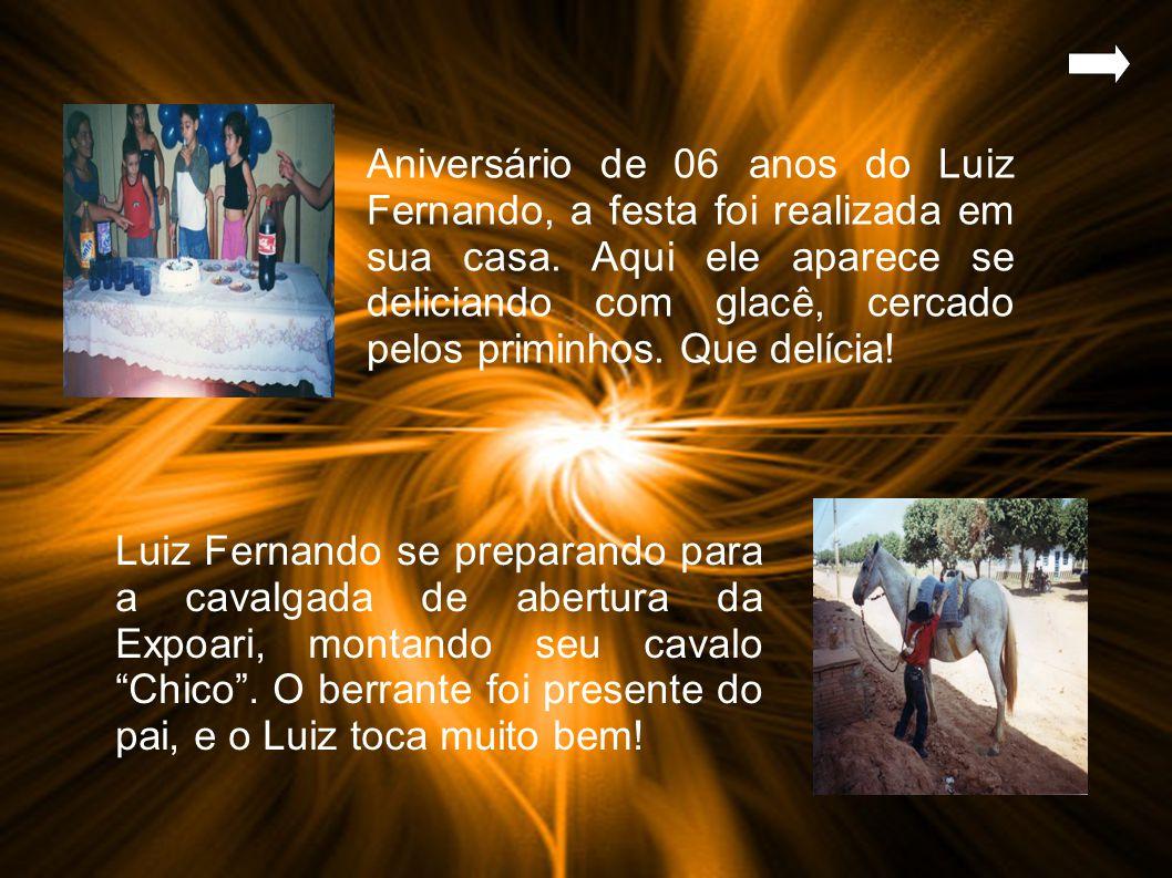 Aniversário de 06 anos do Luiz Fernando, a festa foi realizada em sua casa.