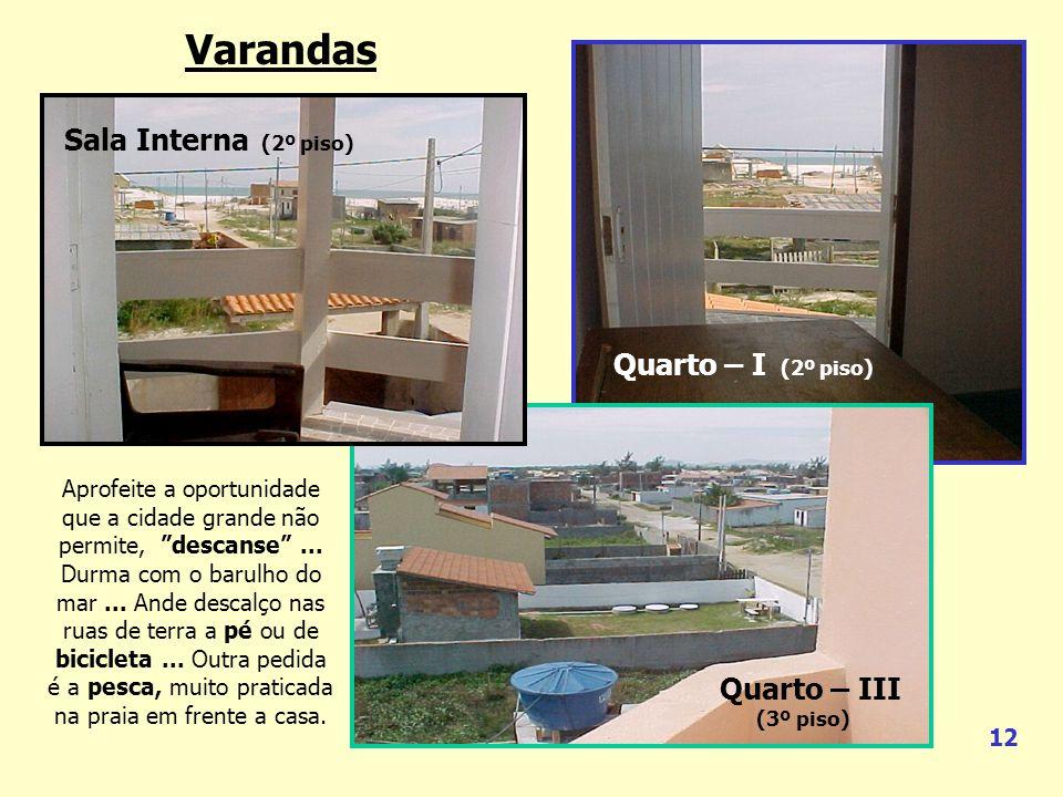 Quarto-I Quarto-II 1 2 3 4 5 Lateral Direita Fundos Lateral Esquerda Frontal FOTO 2 – Quarto-III com varanda p/ fundos da casa. FOTO 5 – Frontal da ca