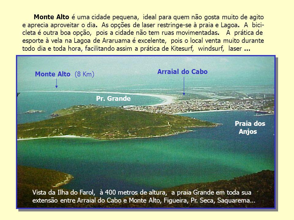 Condomínio Vista da Ilha do Farol, à 400 metros de altura, a praia Grande em toda sua extensão entre Arraial do Cabo e Monte Alto, Figueira, Pr.