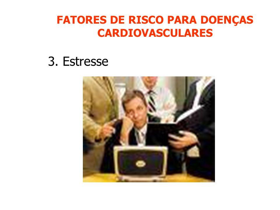 FATORES DE RISCO PARA DOENÇAS CARDIOVASCULARES 3. Estresse