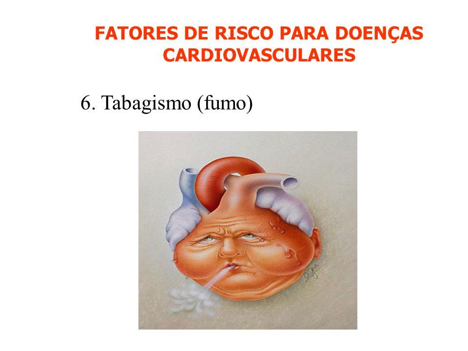 FATORES DE RISCO PARA DOENÇAS CARDIOVASCULARES 6. Tabagismo (fumo)