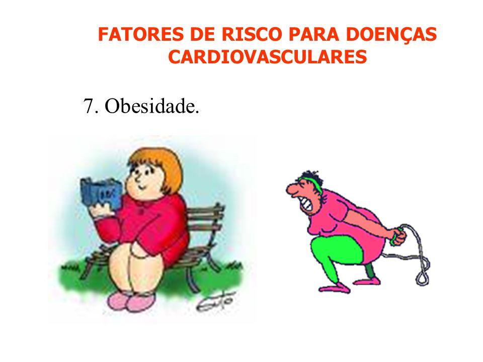 FATORES DE RISCO PARA DOENÇAS CARDIOVASCULARES 7. Obesidade.