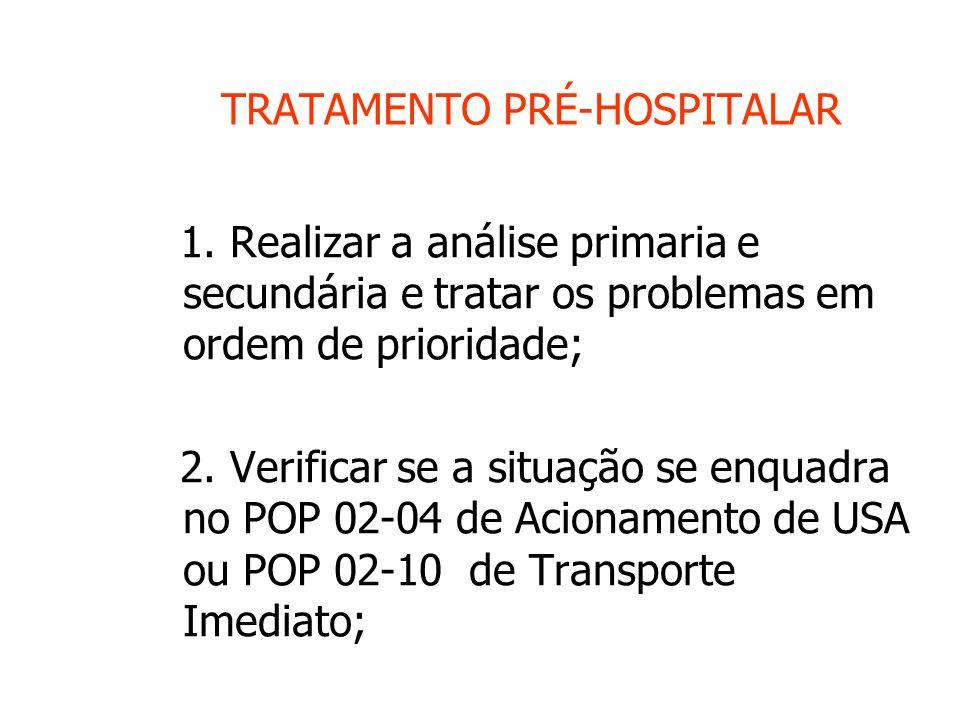 TRATAMENTO PRÉ-HOSPITALAR 1.