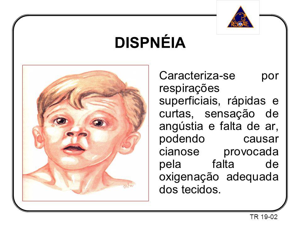 Caracteriza-se por respirações superficiais, rápidas e curtas, sensação de angústia e falta de ar, podendo causar cianose provocada pela falta de oxigenação adequada dos tecidos.