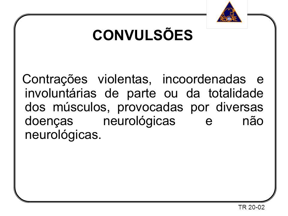 CONVULSÕES Contrações violentas, incoordenadas e involuntárias de parte ou da totalidade dos músculos, provocadas por diversas doenças neurológicas e não neurológicas.