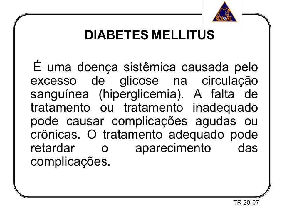 DIABETES MELLITUS É uma doença sistêmica causada pelo excesso de glicose na circulação sanguínea (hiperglicemia).