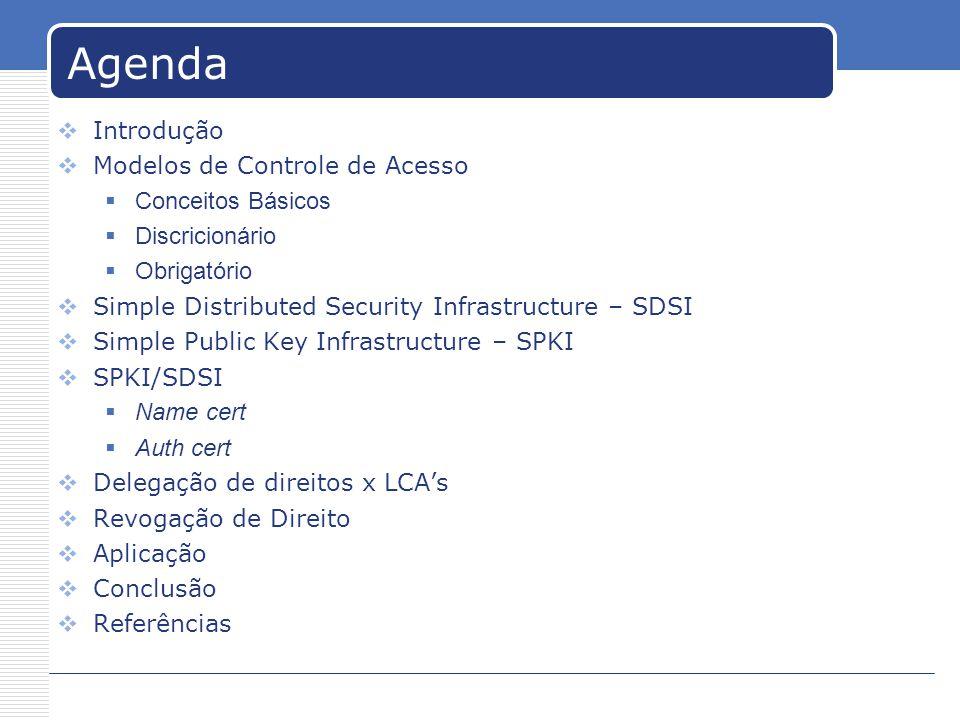 SPKI/SDSI Exemplo chaves públicas no SPKI/SDSI: