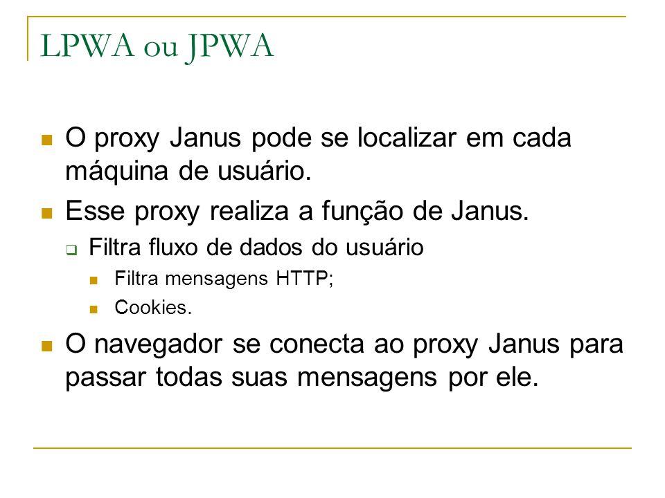 LPWA ou JPWA O proxy Janus pode se localizar em cada máquina de usuário.