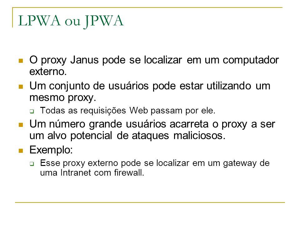 O proxy Janus pode se localizar em um computador externo.
