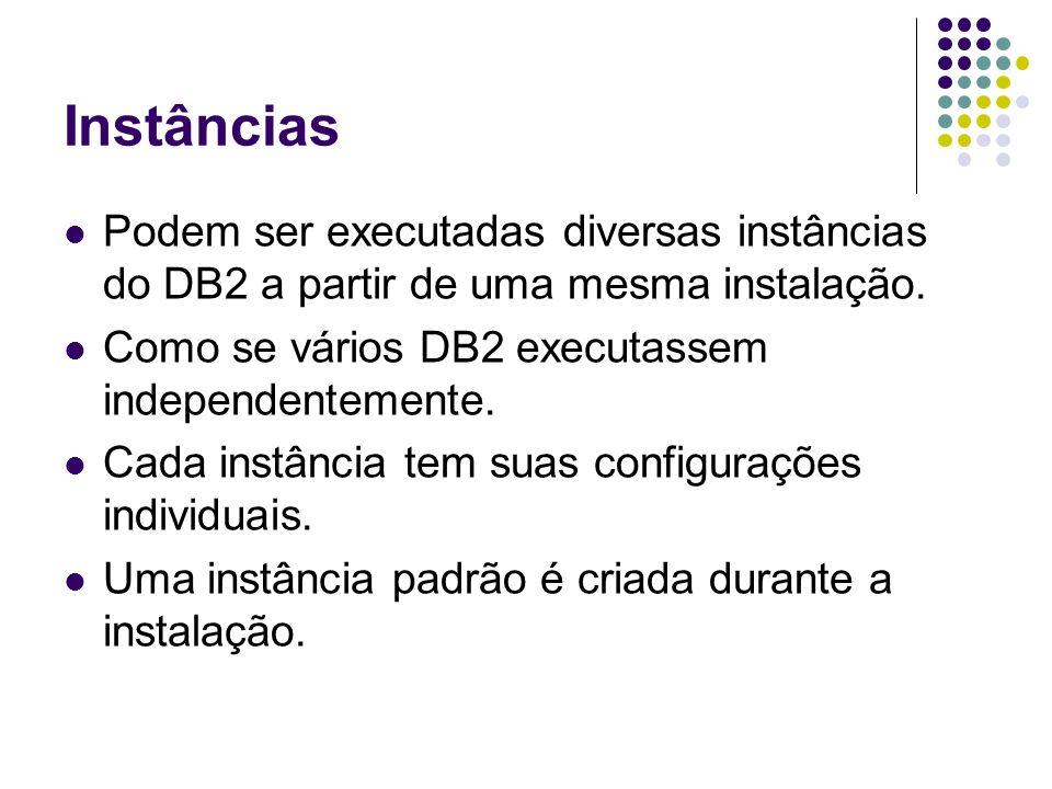 Centro de Controle Ferramenta gráfica para utilização do DB2.