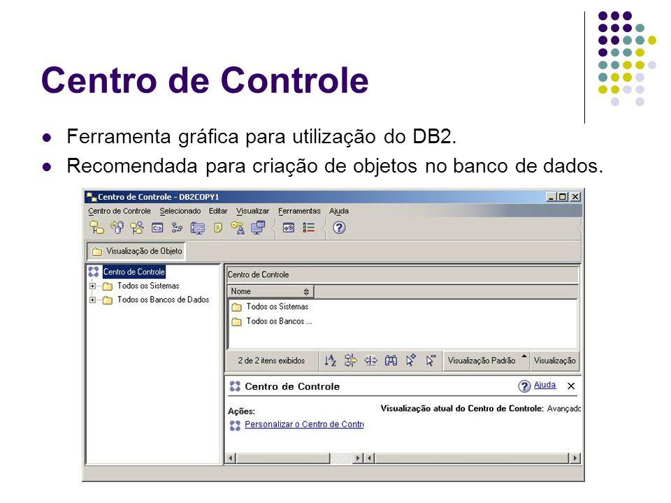 Command Line Processor (CLP) Ferramenta em linha de comando para utilização do DB2.