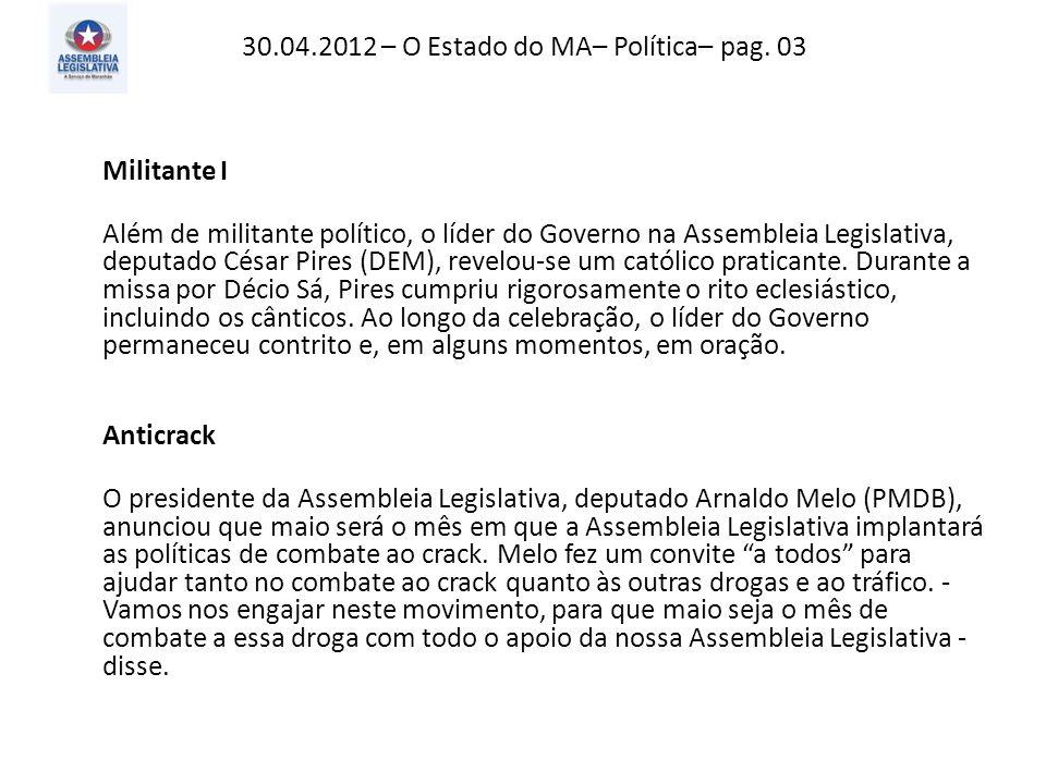 30.04.2012 – O Imparcial– Mundo – pag. 06