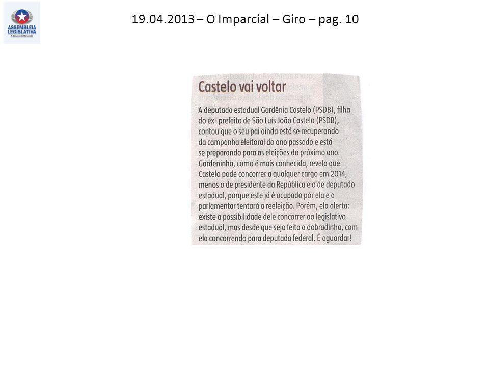 19.04.2013 – O Imparcial – Giro – pag. 10