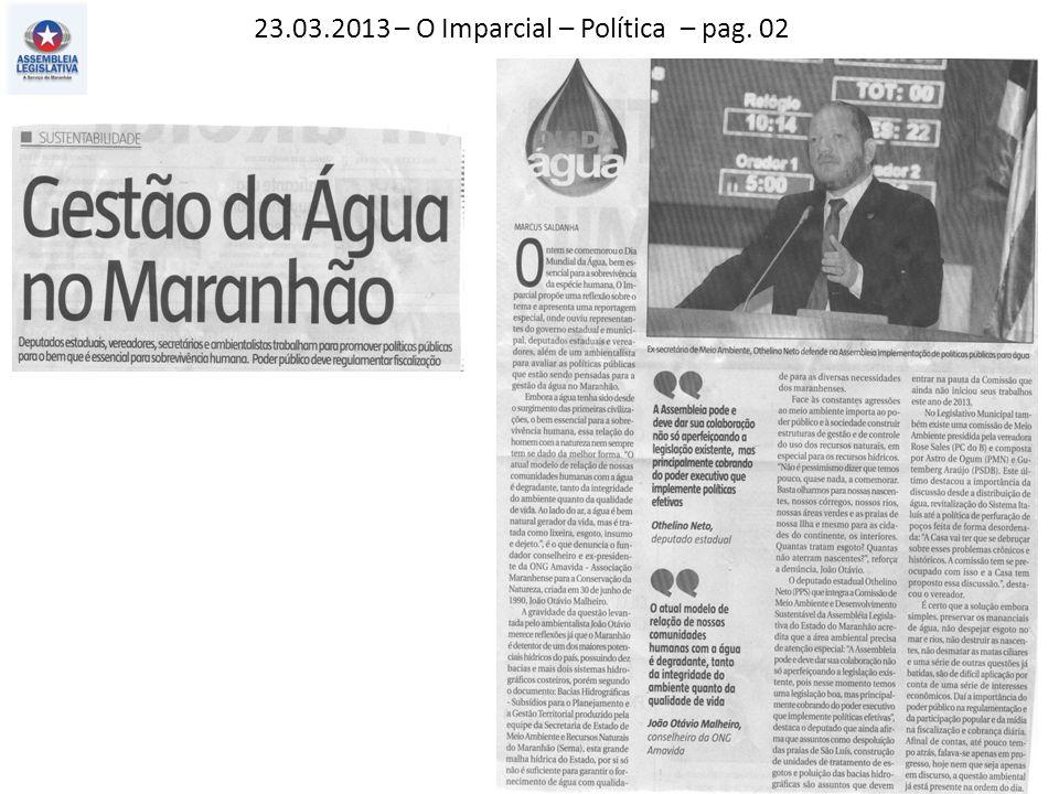 23.03.2013 – O Imparcial – Política – pag. 02