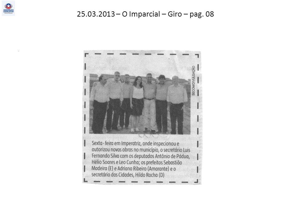 25.03.2013 – O Imparcial – Giro – pag. 08.