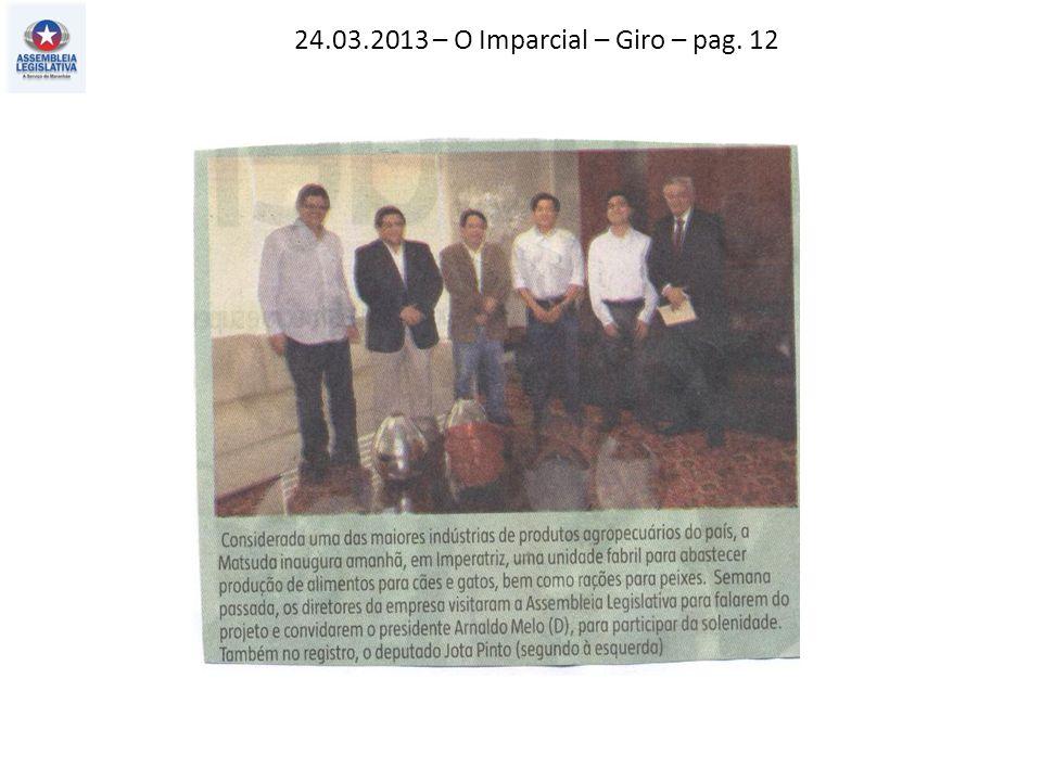 24.03.2013 – O Imparcial – Giro – pag. 12