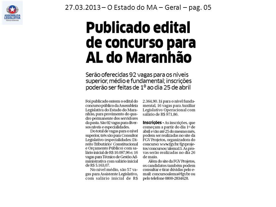 27.03.2013 – Jornal Pequeno – Atos, fatos e baratos – pag. 02