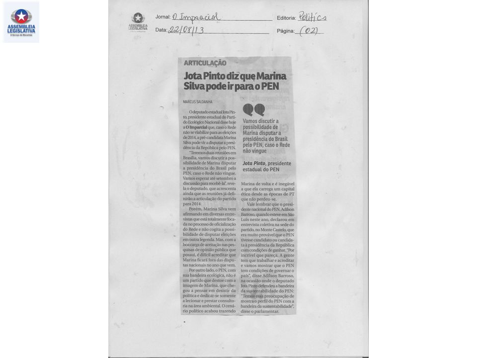 15.08.2013 – O Imparcial – Política – pag. 03
