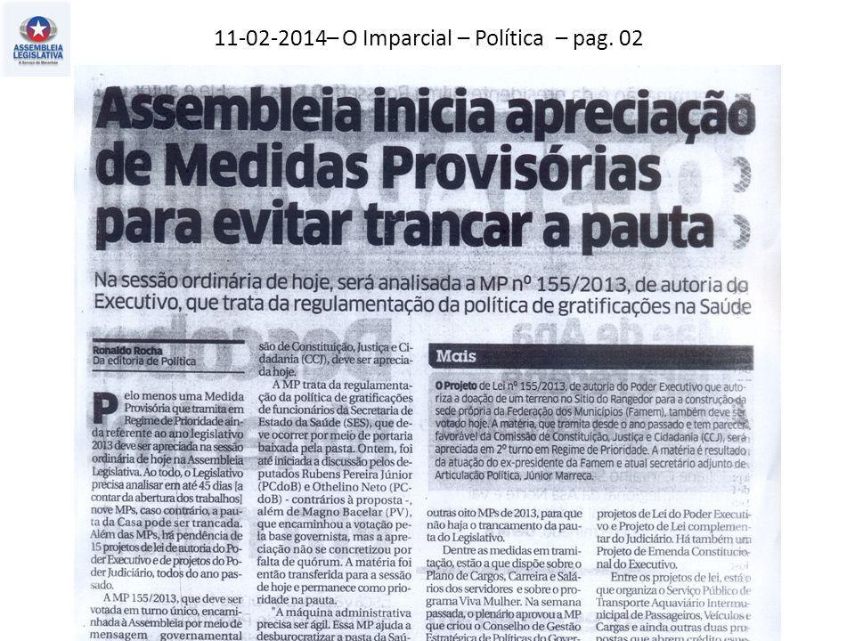 11-02-2014– O Imparcial – Política – pag. 02