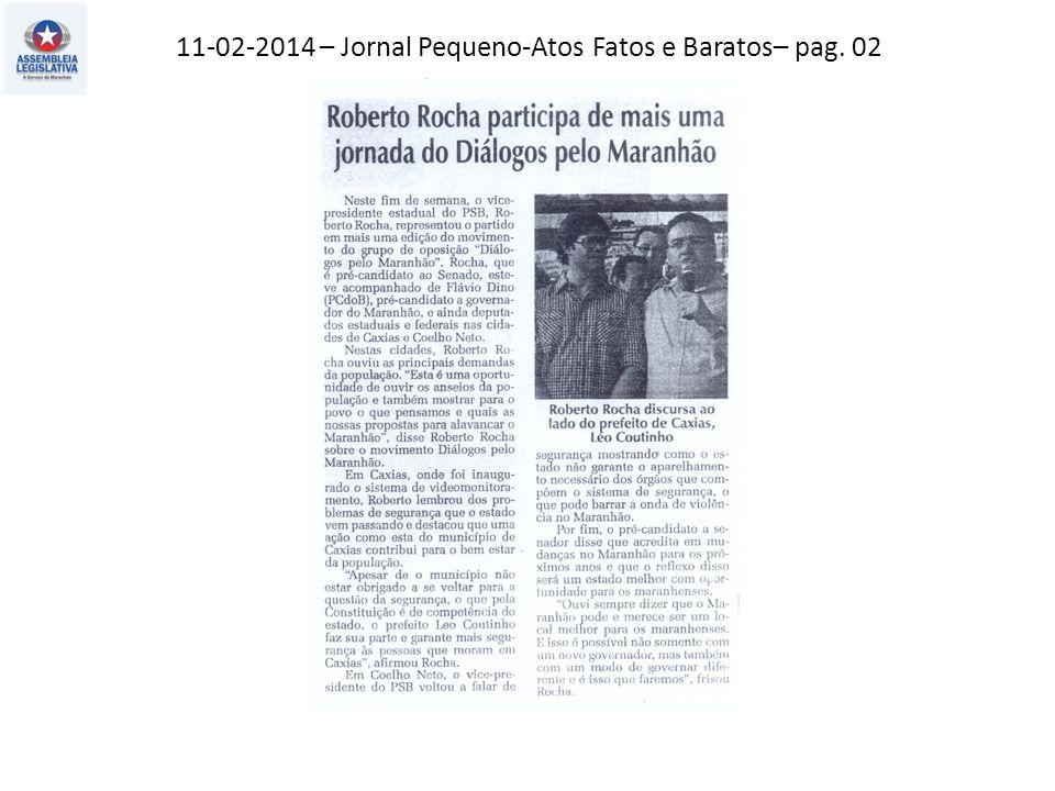11-02-2014 – Jornal Pequeno-Atos Fatos e Baratos– pag. 02