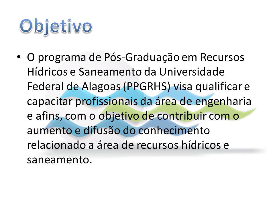 O programa de Pós-Graduação em Recursos Hídricos e Saneamento da Universidade Federal de Alagoas (PPGRHS) visa qualificar e capacitar profissionais da