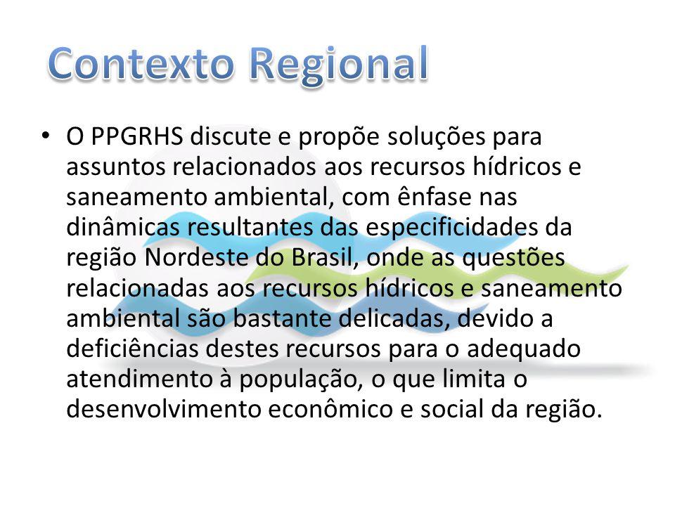 O PPGRHS discute e propõe soluções para assuntos relacionados aos recursos hídricos e saneamento ambiental, com ênfase nas dinâmicas resultantes das e