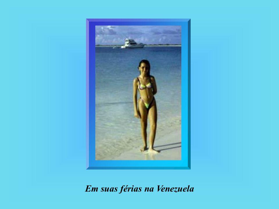 Em suas férias na Venezuela