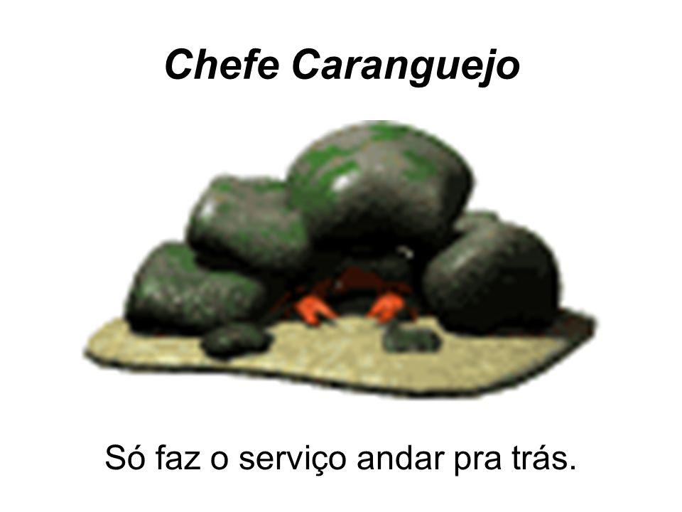 Chefe Caranguejo Só faz o serviço andar pra trás.