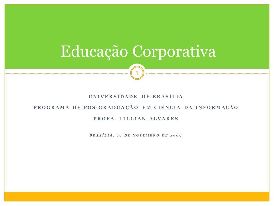 UNIVERSIDADE DE BRASÍLIA PROGRAMA DE PÓS-GRADUAÇÃO EM CIÊNCIA DA INFORMAÇÃO PROFA.