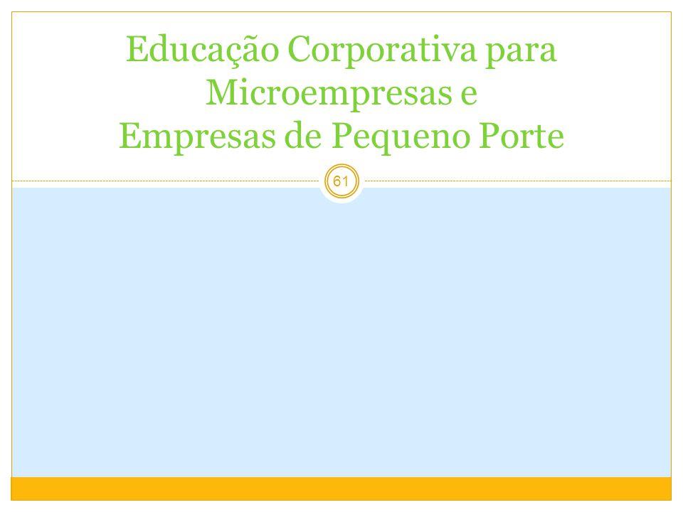 61 Educação Corporativa para Microempresas e Empresas de Pequeno Porte